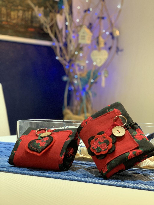 Shopping Bag nera con rose rosse - Shopping Bag nera con rose rosse