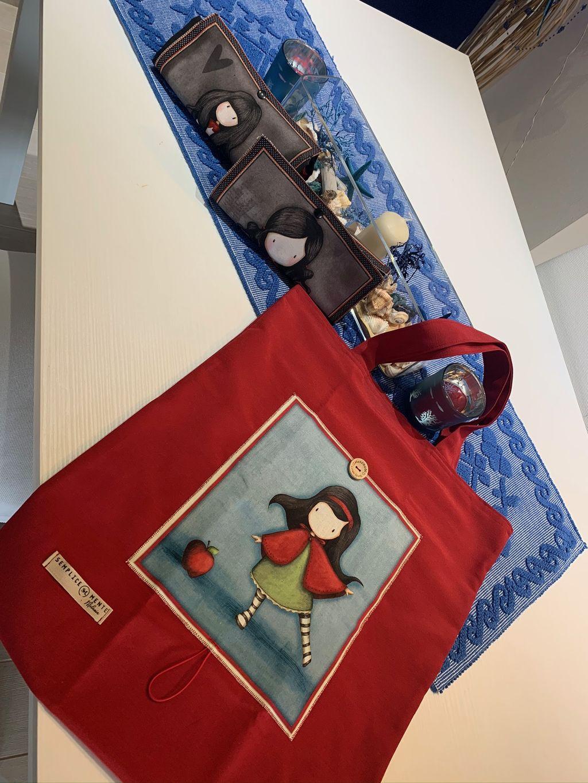 Shopping Bag Santoro Gorjuss rossa - Shopping Bag Santoro gorjuss rossa