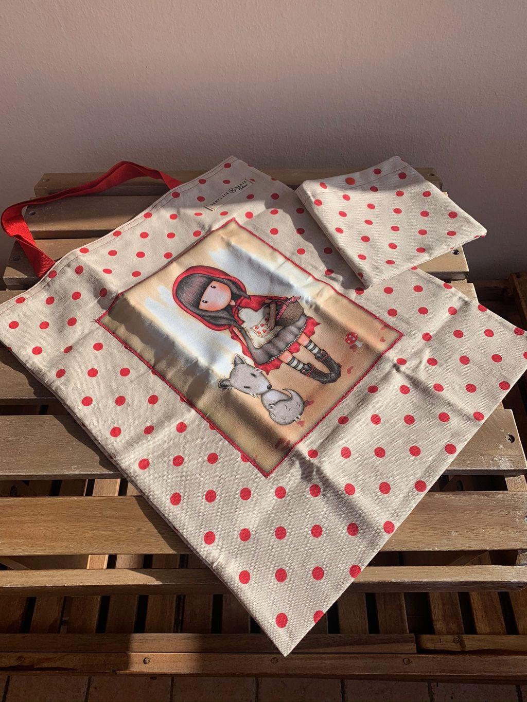 Shopping Bag Santoro Gorjuss pois rossi - Shopping Bag Santoro Gorjuss pois rossi