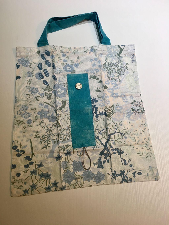 Shopping Bag turchese primavera - Shopping Bag turchese primavera